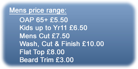 Blues barbers price range