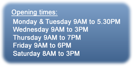 Blues Barbers opening times